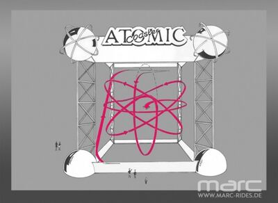 Atomic Coaster, conceptual design study for themed track